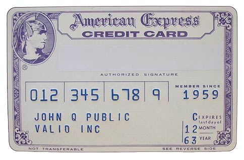 Credit cards have not changed much in 50 years