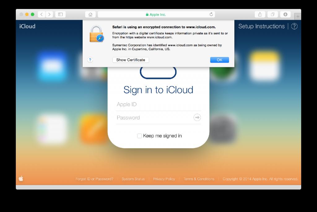 iCloud Safari verified