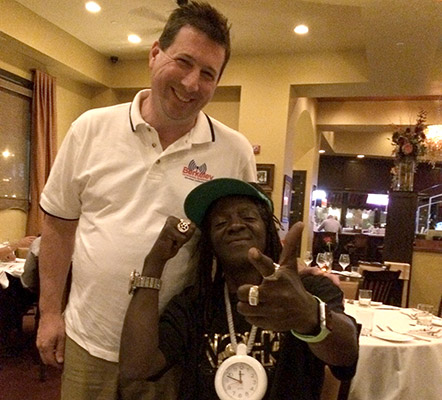 Scott Schober with Flava Flav