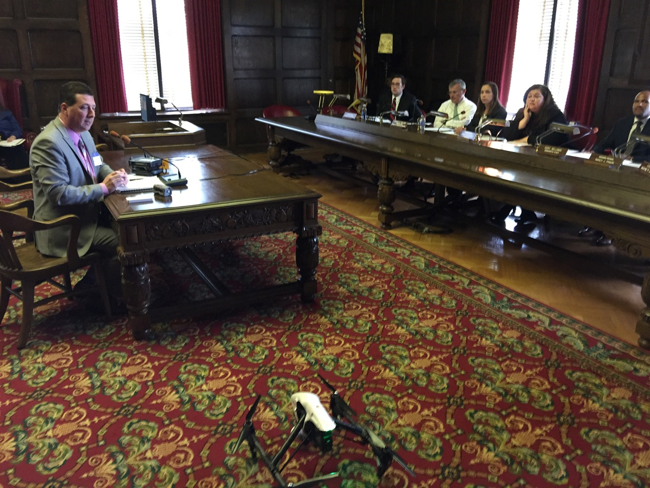 Scott Schober testifying on drones in Trenton NJ