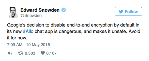 Edward Snowden Tweet