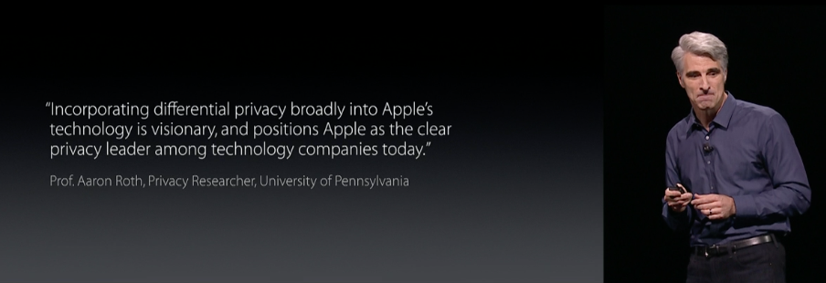 WWDC Differential Privacy Quote