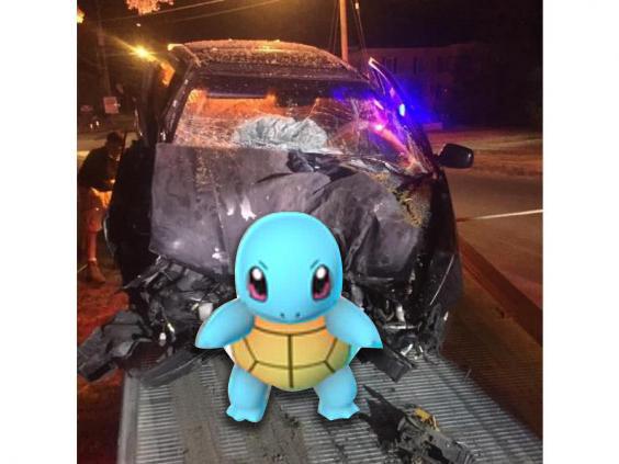 Pokemon car crash Squirtle