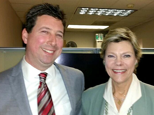 Scott Schober with Cokie Roberts