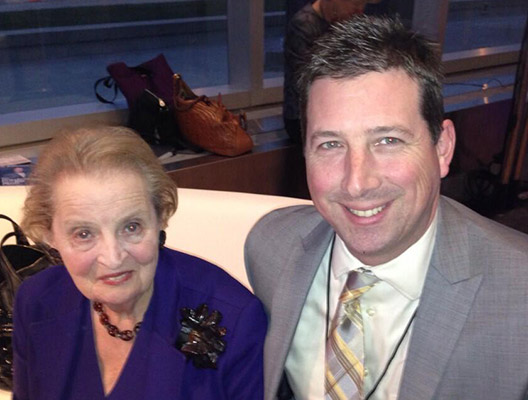 Scott Schober with Madelaine Albright